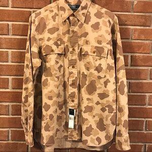 Men's Camo Polo Ralph Lauren Button Down Shirt